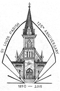 Anniversary logo of church